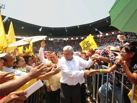 Mexican presidential candidate of the leftist coalition