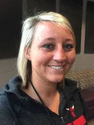 Recovering opioid addict Ashley Blanford, shown here