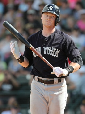 New York Yankees outfielder Clint Frazier during a