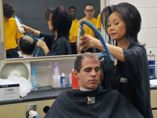 Ladies First End May Be Near For Navy Recruit Haircuts