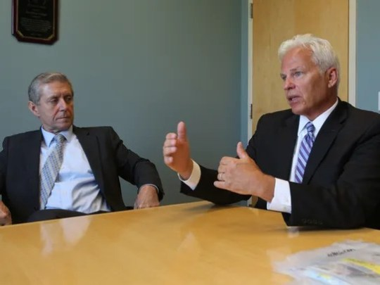 From left, Rockland County District Attorney Thomas