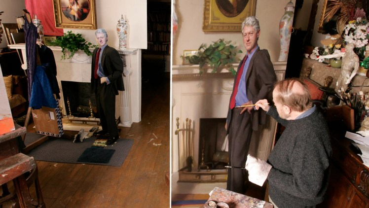 Image result for Bill Clinton's gallery portrait