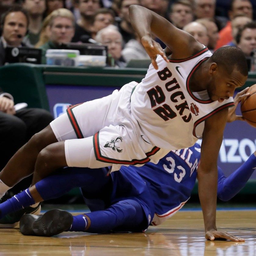 Image result for Bucks surge past Sixers in matchup of rising stars