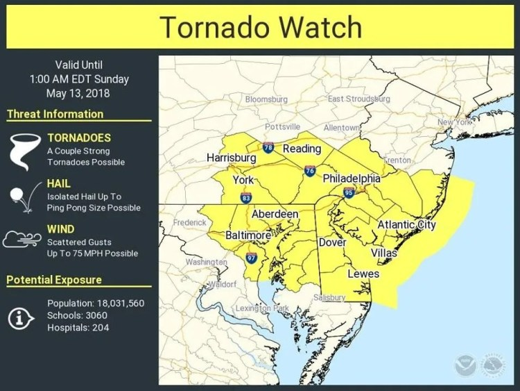 NJ weather: Tornado watch issued for Ocean County by ...