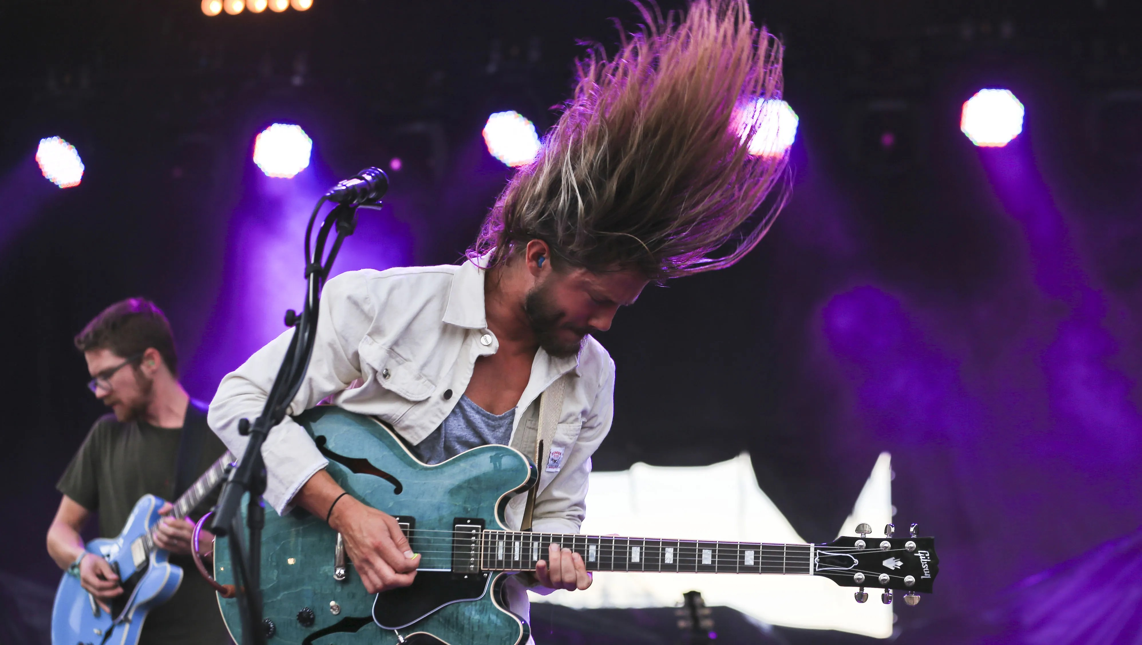 Trevor Terndrup of Moon Taxi Jams during the band's performance on the Boom Stage at the Forecastle Festival.  Moon Taxi will perform on February 24 at the Mill & Mine.