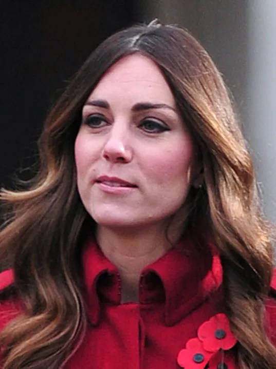 Kate Middletons Gray Hair Shows In London