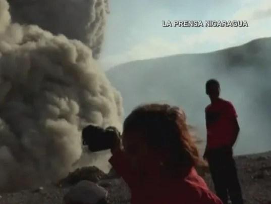 Nicaragua Volcano explosion