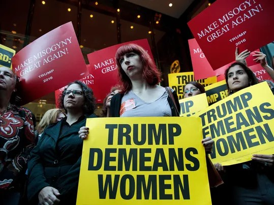 *** BESTPIX *** Women's Rights Advocates, Elected Officials Protest Outside Of Trump Tower