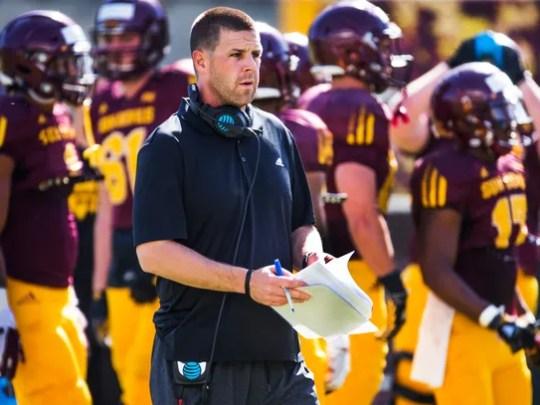 ASU offensive coordinator Billy Napier.