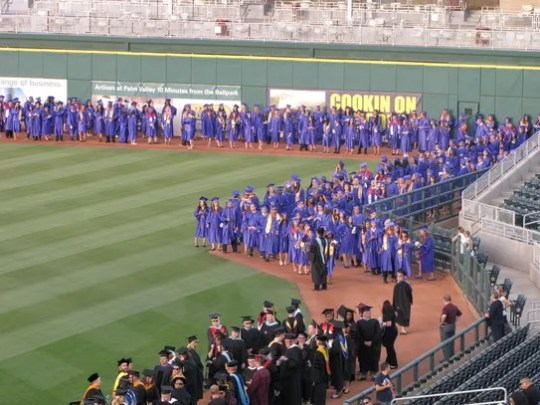 Estrella Mountain Community College graduates line