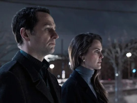 As returning spies Philip (Matthew Rhys) and Elizabeth