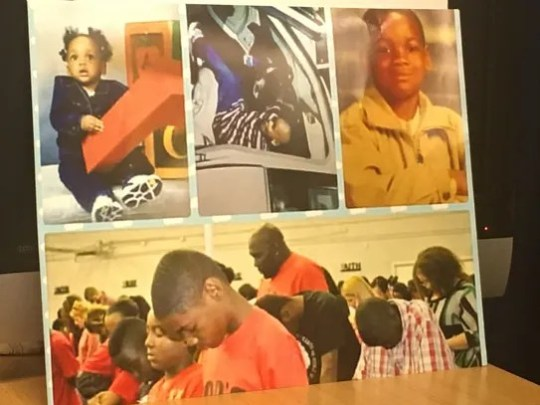 Demetric Carter's mother brought in a photo collage