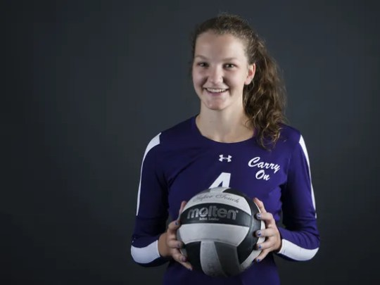 Mesa High School's Annie Hatch, outside hitter for