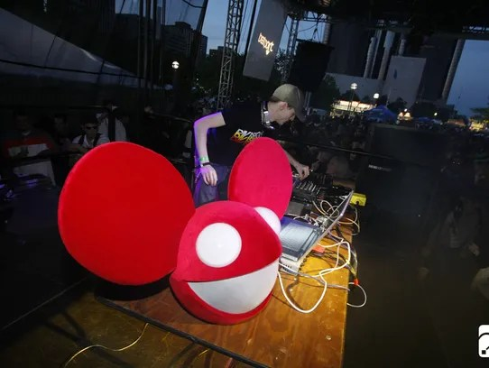 Dance music artist Deadmau5 (Joel Zimmerman) played