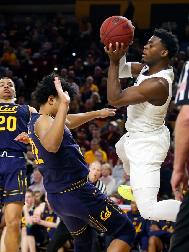 Arizona State Sun Devils guard Luguentz Dort (0) during a men's basketball game at Wells Fargo Arena in Tempe on February 24.