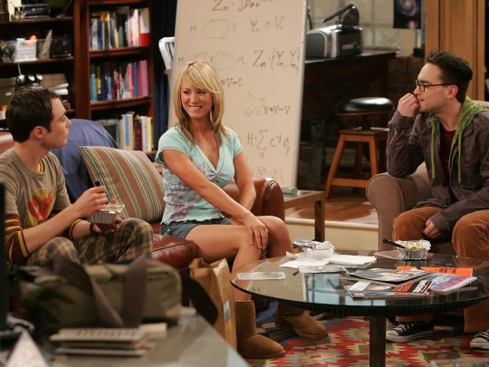 """""""The Big Bang Theory"""" premiered in 2007 with an intriguing triangle, socially awkward geniuses Sheldon (Jim Parsons), left, and Leonard (Johnny Galecki), right, navigating life in an apartment across the hall from actress/waitress Penny (Kaley Cuoco), who had a much higher emotional intelligence."""