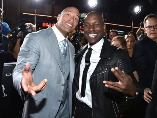 Dwayne Johnson and Tyrese Gibson in happier times in