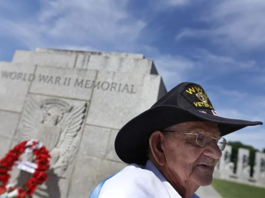 WWII veteran Fred Plichta, 88 of Monroe, MI was photographed
