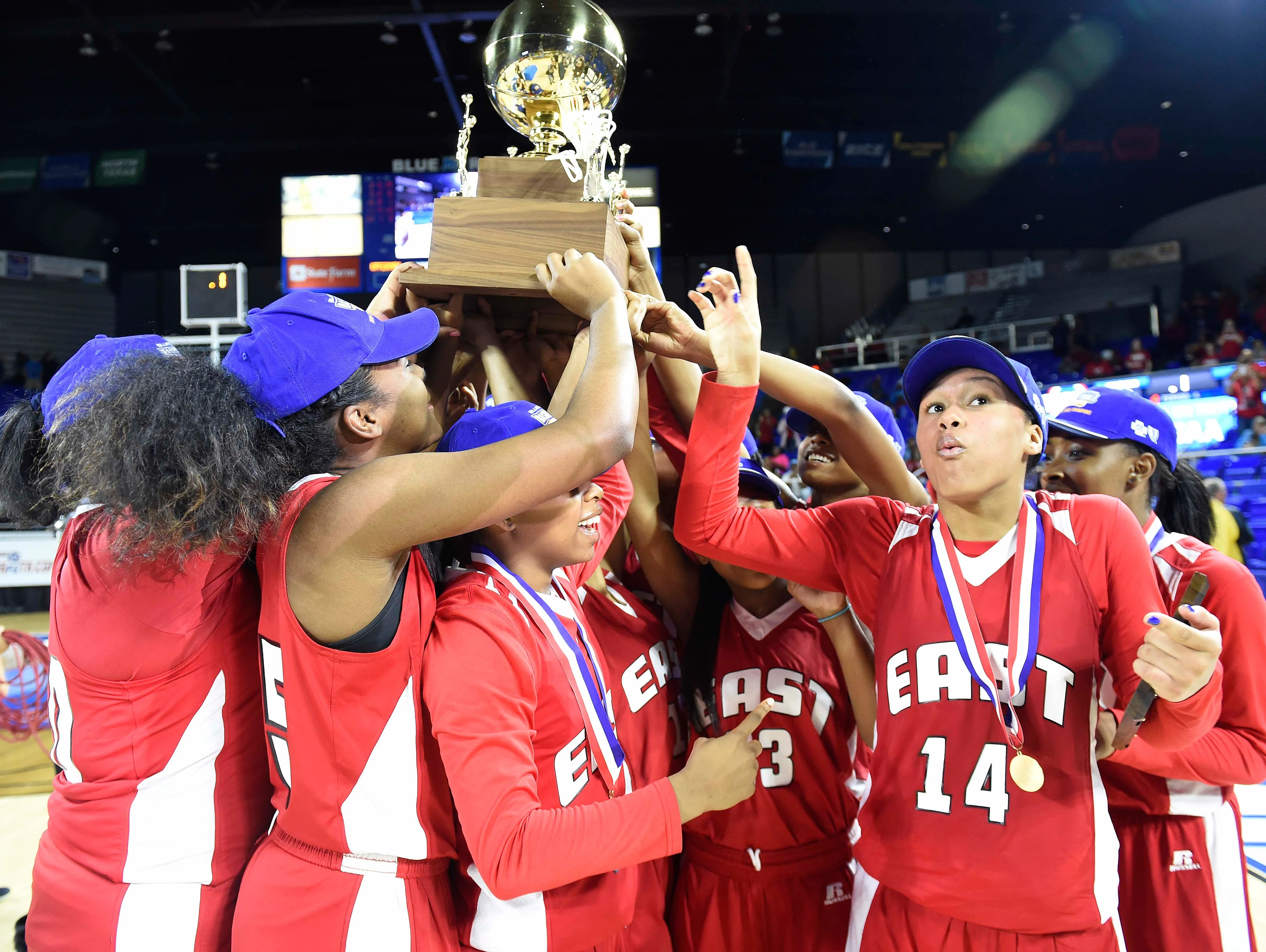 win over Upperman 70-56 in the Division I Class AA Girl's basketball ...