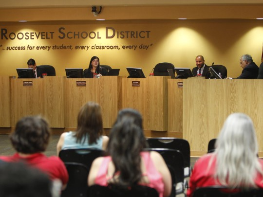 In April, the governing board for the Roosevelt School