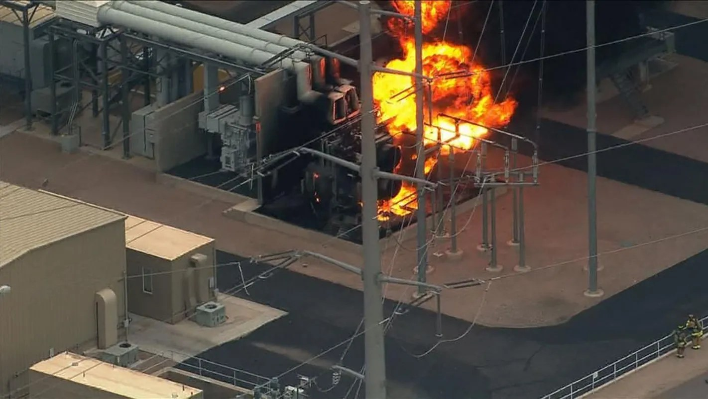 Transformer Fire At Southeast Valley Power Station
