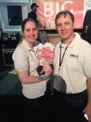 Tyler, Kim and newborn Lucy Ortego celebrate ORA Estuaries'