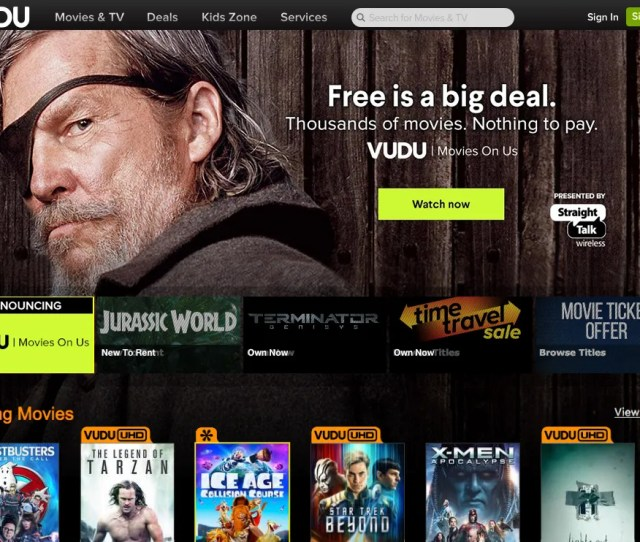 Streaming Service Vudu Has Begun Offering Ad Supported