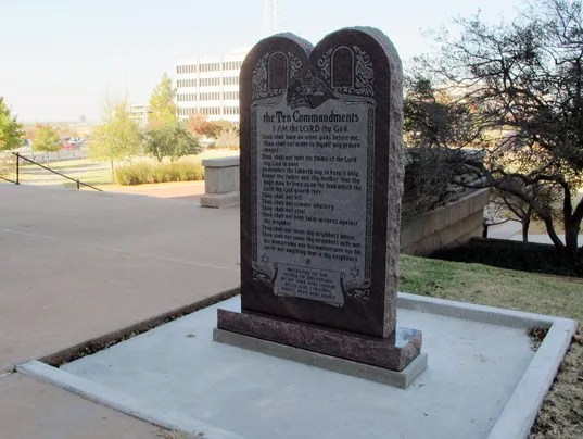 Oklahoma ten commandments
