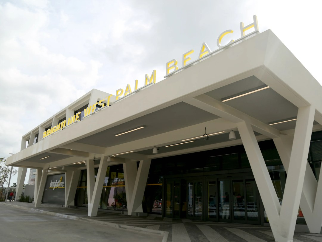 Brightline debuted its West Palm Beach station Tuesday.