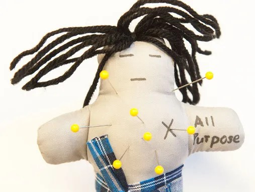 This is one of the voodoo dolls used in the study to measure participants' anger with their spouses.