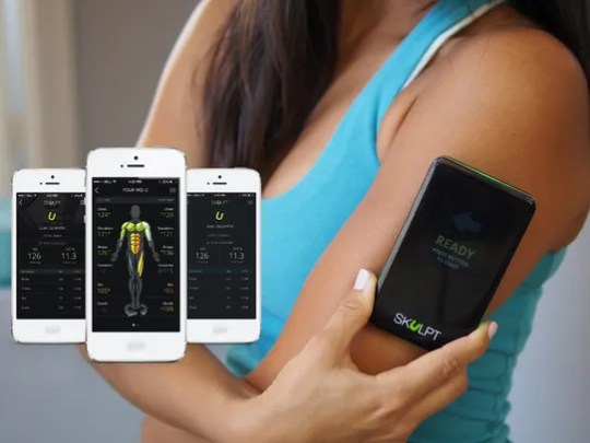 The Skulpt Aim can measure muscle quality and body