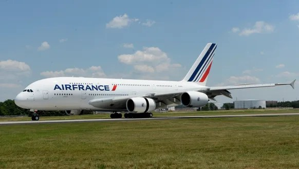 Air France's Airbus A380 visits Washington Dulles Airport
