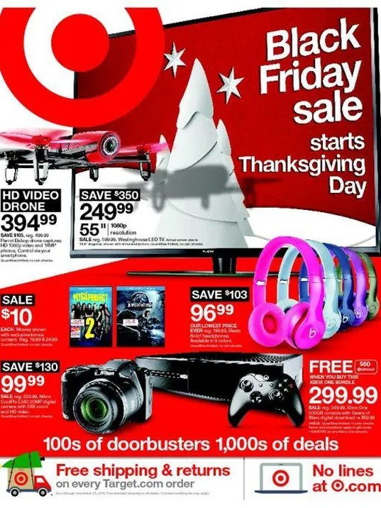 Target Black Friday 2015 front page