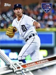 Custom Topps baseball card of Daniel Norris for the