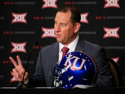 First-year Kansas coach David Beaty