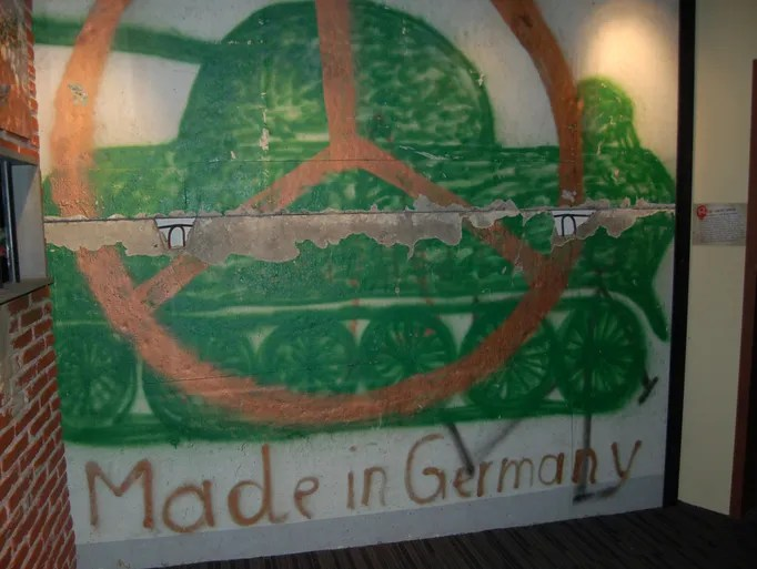 Pieces of the Berlin Wall are on display at multiple