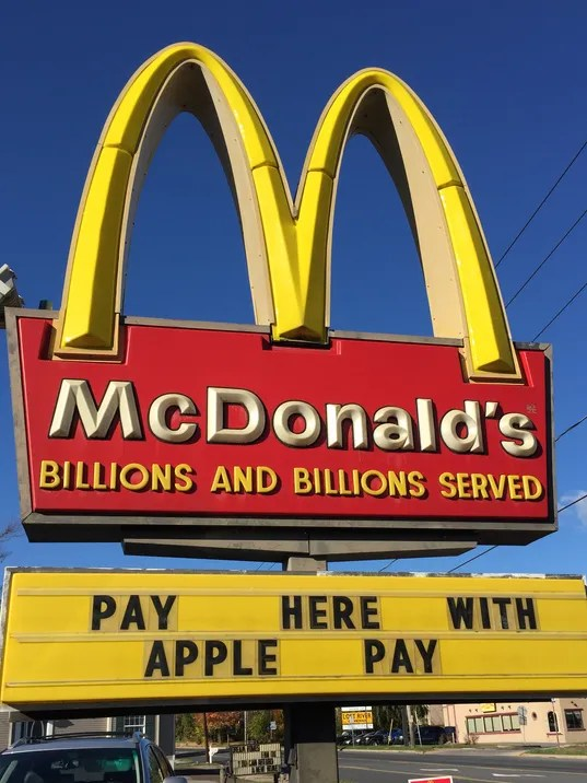 Fast Food Restaurants Apple Pay