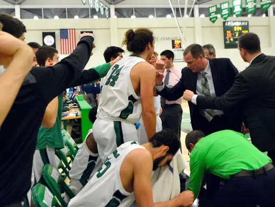 Messiah vs York College mens' basketball
