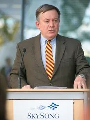 ASU President Michael Crow speaks at the grand opening