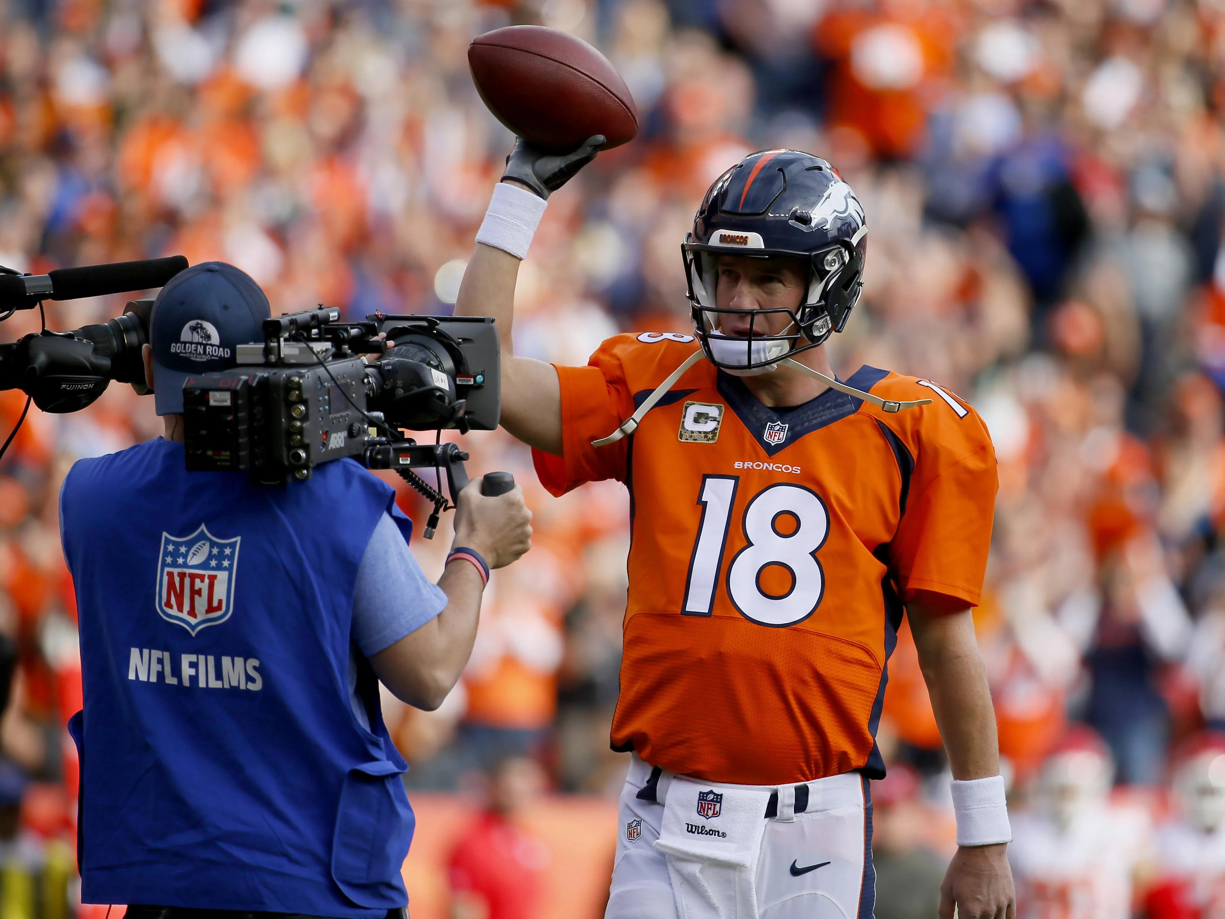super popular a258a 7926b Peyton Manning angrily denies report he used PEDs   USA ...