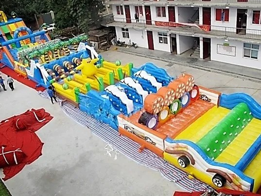 A photo of the inflatable obstacle course that was stolen in Phoenix