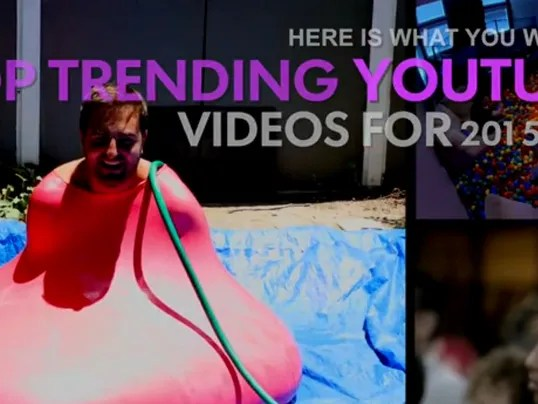 Top-trending YouTube videos for 2015