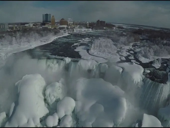 Drone video of Niagara Falls