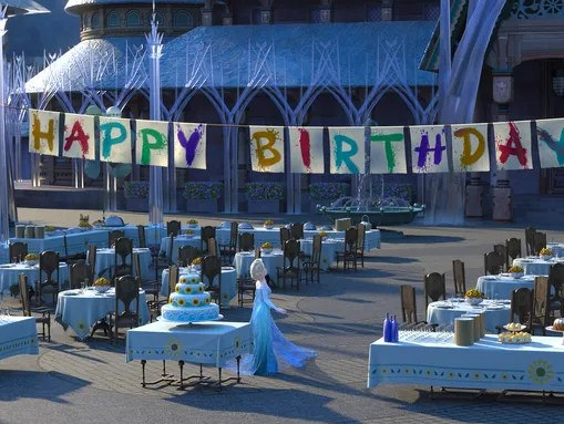 It's Anna's birthday and Elsa and Kristoff are determined