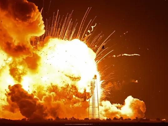 Antares explosion Wallops