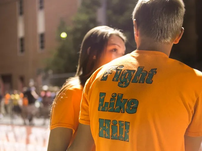 """""""#FightLikeHill"""" T-shirts were worn in remembrance"""