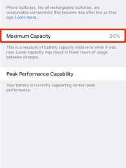 iPhone 7 Plus battery health.