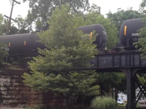 Oil train Pittsford