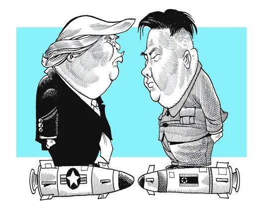 Political Cartoon Vs Us Korea North