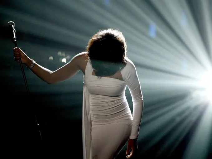 A superstar with a beautiful voice whose career was soured by drug abuse, Whitney Houston died in a Beverly Hills hotel room hours before the 2012 Grammys-eve party held by her mentor, Clive Davis. Houston was 48.
